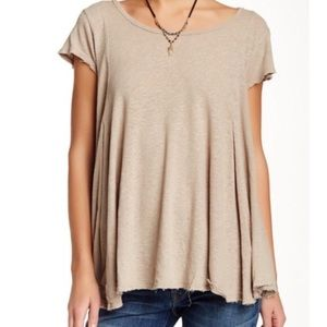 Free people flowy drape top with keyhole back